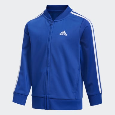 Youth Training Blue Tricot Jacket and Joggers Set