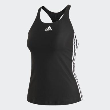 Frauen Schwimmen adidas SH3.RO Classic 3-Streifen Tankinioberteil Schwarz