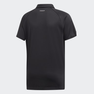 Boys Padel Tennis Black Club Polo Shirt
