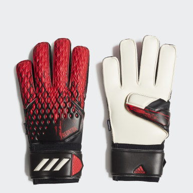 Football Black Predator 20 MTC Fingersave Goalkeeper Gloves