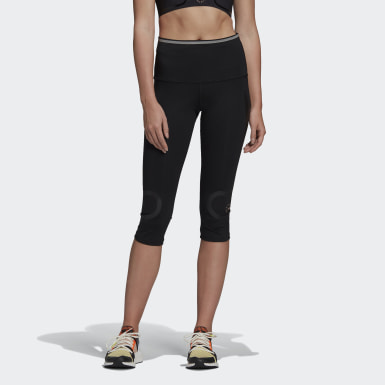 Women adidas by Stella McCartney Black TRUEPACE 3/4 Tights