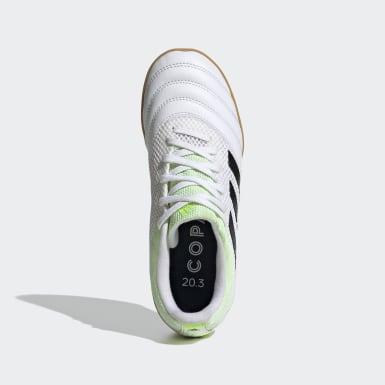 Boys Fodbold Hvid Copa 20.3 Sala indendørsstøvler