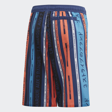 Kids 4-8 Years Swimming Blue Beach Shorts
