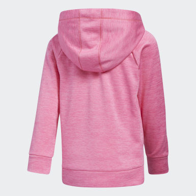 Children Training Pink Event Poly Fleece Hooded Pullover
