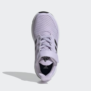 Girls Running Purple FortaFaito Top Strap Shoes
