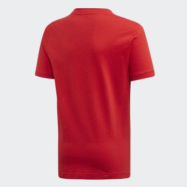 Jongens Yoga Rood Sport ID T-shirt