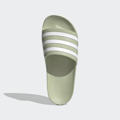 Sandale Adilette Aqua Vert Femmes Natation