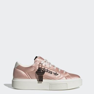 ผู้หญิง Originals สีชมพู รองเท้า adidas Sleek Super