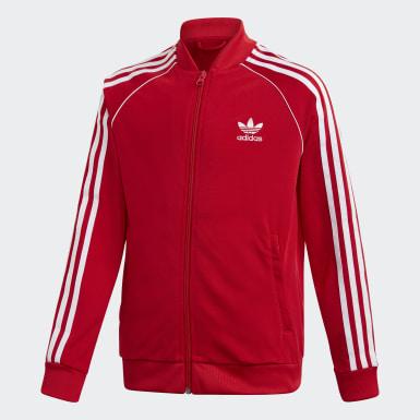 Deti Originals červená Tepláková bunda SST