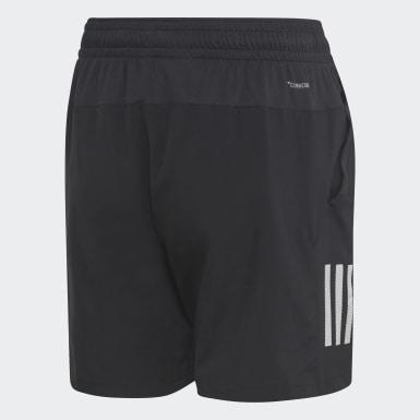 Jungen Padel-Tennis 3-Streifen Club Shorts Schwarz