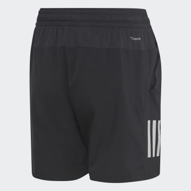 Boys Padel Tennis Black 3-Stripes Club Shorts