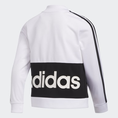 Children Training White Logo Tricot Jacket