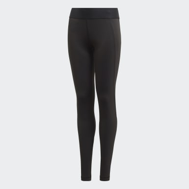 Girls Yoga Black Alphaskin Tights