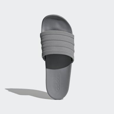 Herr Träning Grå adilette Cloudfoam Plus Mono Sporttofflor