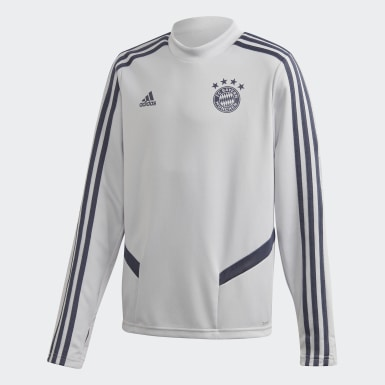Youth 8-16 Years Football Grey FC Bayern Training Top