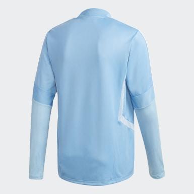Männer Fußball Tiro 19 Trainingsoberteil Blau