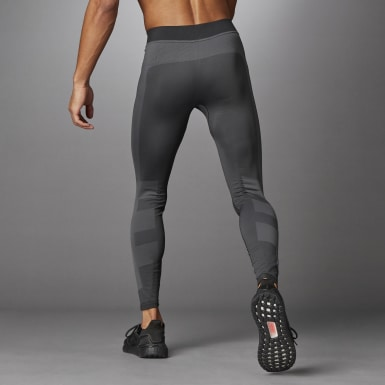 Men Training Black Studio Techfit Seamless Long Tights