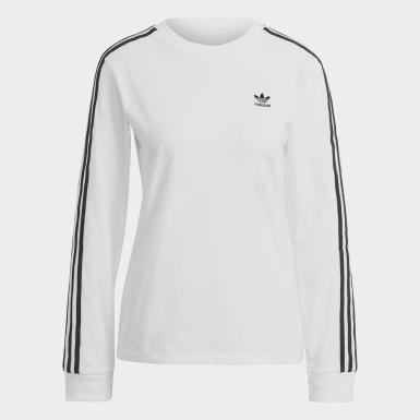 Ženy Originals bílá Tričko Adicolor Classics Long Sleeve