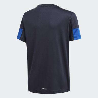 T-shirt 3-Stripes AEROREADY Must Haves Azul Rapazes Treino