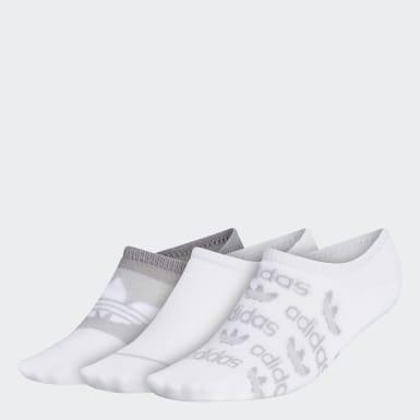 Women's Originals White Graphic Super-No-Show Socks 3 Pairs