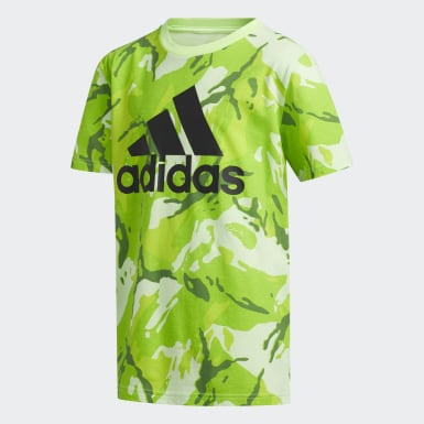 Children Training Green Classic Camo Tee
