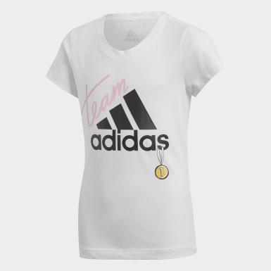 Genç Training Beyaz ID Graphic Tişört