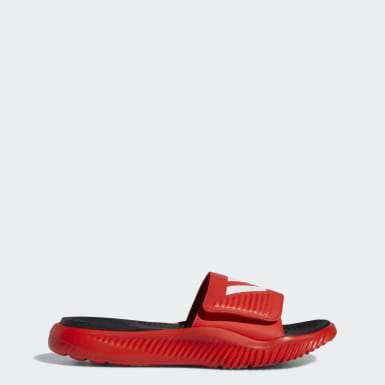 Men's Swim Red Alphabounce Basketball Slides