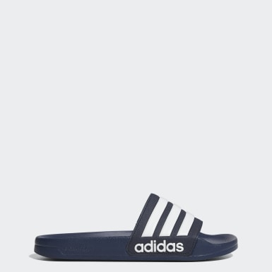 Winter Sports Blue Adilette Cloudfoam Slides