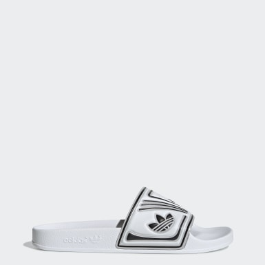 Women Originals White Adilette Slides
