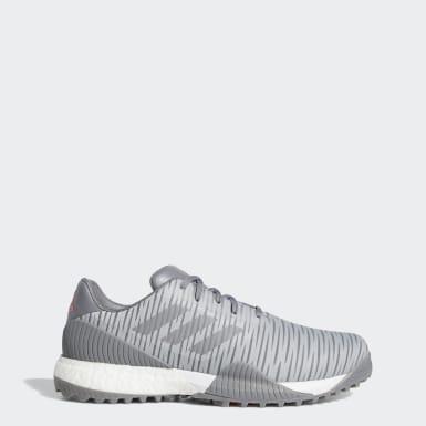 Men Golf Grey CodeChaos Sport Wide Golf Shoes