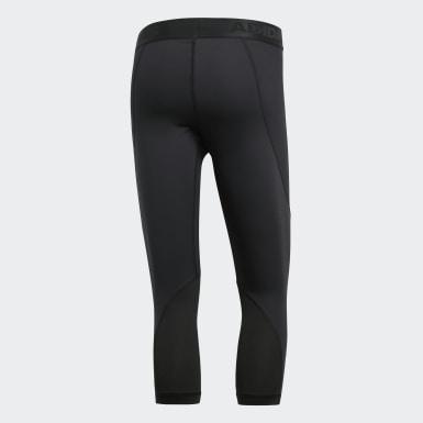 Heren HIIT zwart Alphaskin Sport 3/4 Legging