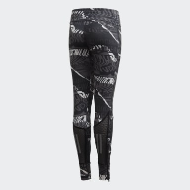 Girls Yoga Grå Own the Run tights