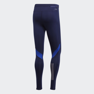 Men Running Blue Own the Run Long Tights