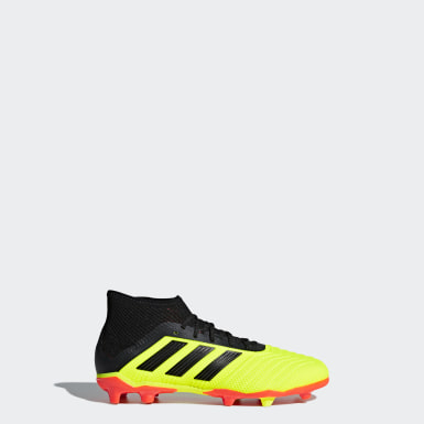 Boys Football Yellow Predator 18.1 Firm Ground Boots