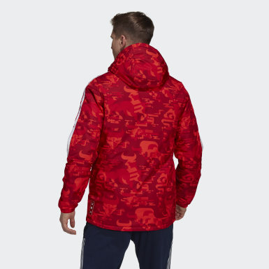 Men Football Red Arsenal CNY Padded Jacket