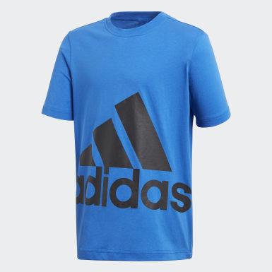 Kids Lifestyle Blue Essentials Big Logo Tee