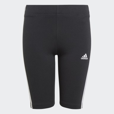 Youth 8-16 Years Athletics Black Essentials 3-Stripes Short Tights