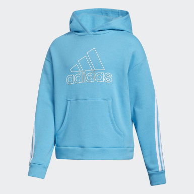 Youth Training Blue Stripe Hoodie