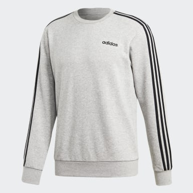 Bluza Essentials 3-Stripes Szary