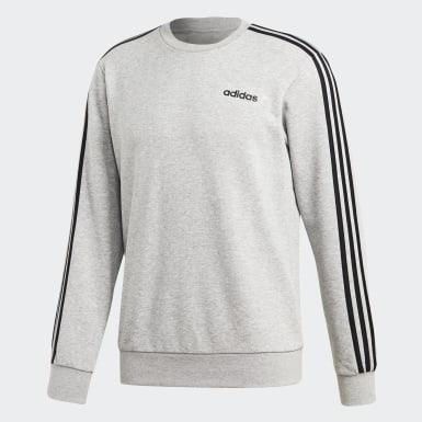 Sweat-shirt Essentials 3-Stripes Gris Hommes Athletics