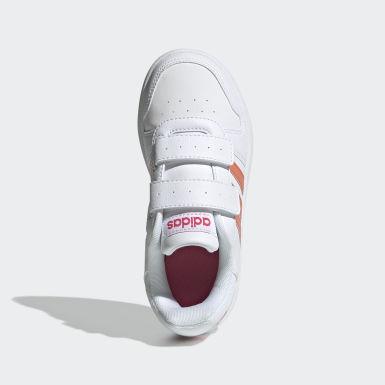 Sapatos Hoops 2.0 Branco Criança Basquetebol