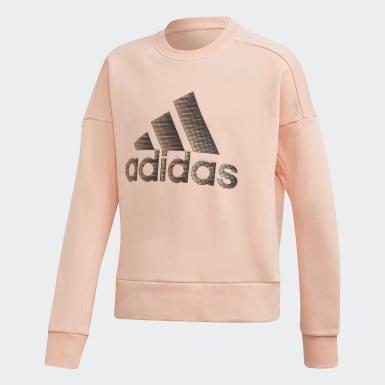 Meisjes Training Roze ID Glam Sweatshirt