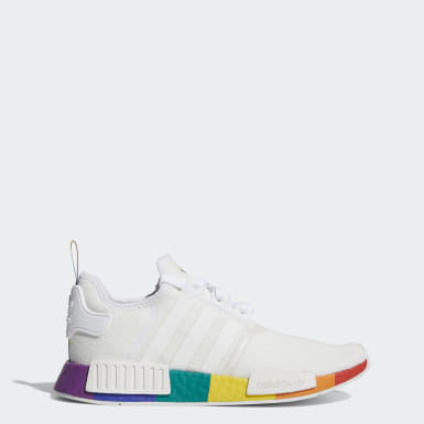 Men's Originals White NMD_R1 Pride Shoes