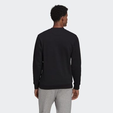 Men Athletics Black Winter Badge of Sport Sweatshirt