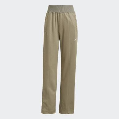 Pantalon de survêtement adidas by Stella McCartney Knit Mix Beige Femmes adidas by Stella McCartney