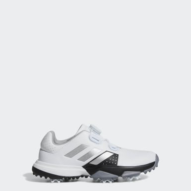Kids Golf White Adipower Boa Shoes