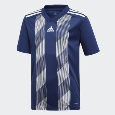 Boys Football Blue Striped 19 Jersey