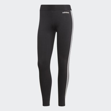 Calça Legging Essentials 3-Stripes Preto Mulher Essentials