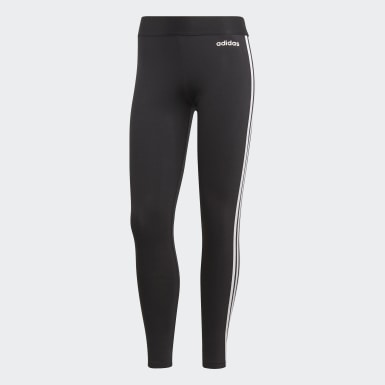 Women Yoga Black Essentials 3-Stripes Tights