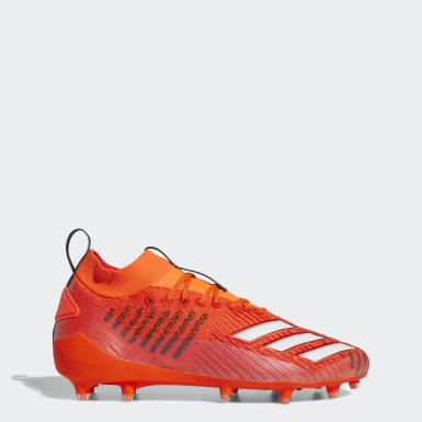 Men's Football Orange Adizero 8.0 Primeknit Cleats